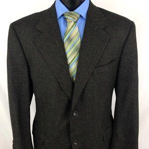 Canali Proposta Sport Coat Black Wool Cashmere 46R